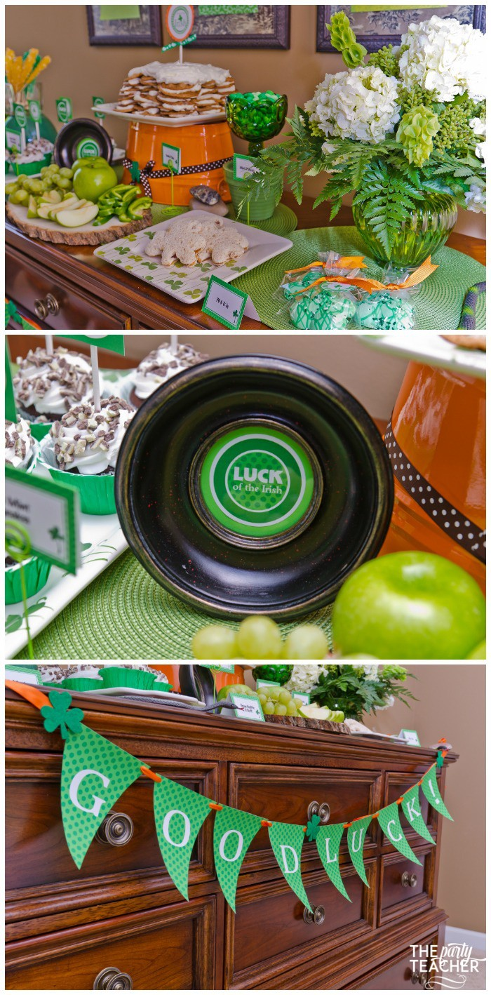 St. Patrick's Day Party for kids by The Party Teacher - dessert table