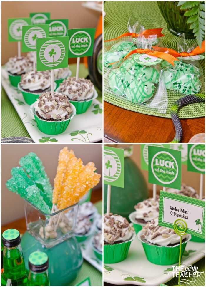 St. Patrick's Day Party for kids by The Party Teacher - desserts
