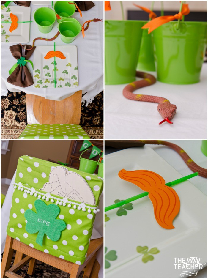 St. Patrick's Day Party for kids by The Party Teacher - dining table 2