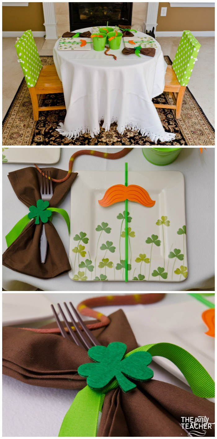 St. Patrick's Day Party for kids by The Party Teacher - dining table