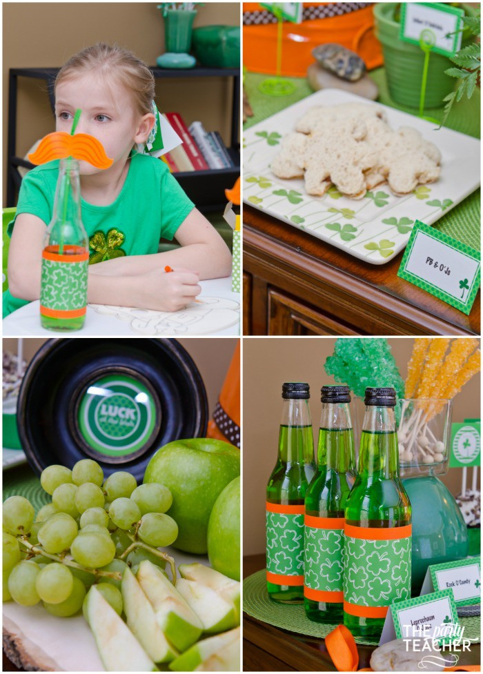 St. Patrick's Day Party for kids by The Party Teacher - lunch