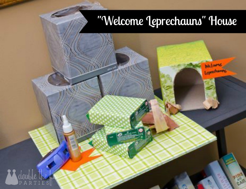 Welcome leprechaun house by Double the Fun Parties