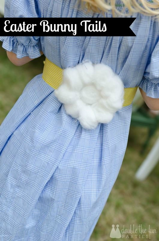 Easter bunny tails by Double the Fun Parties