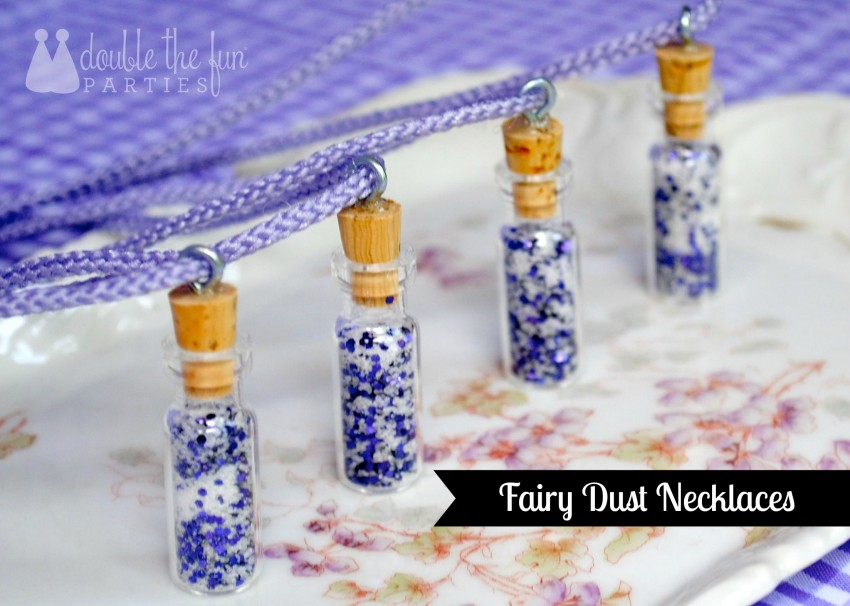Fairy dust necklaces by Double the Fun Parties