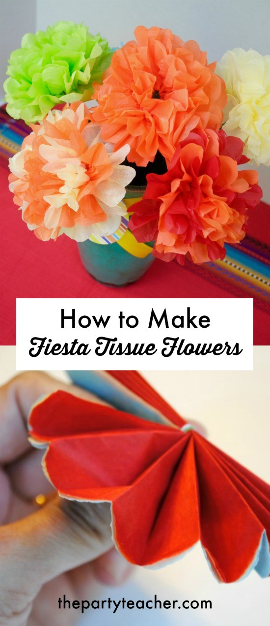 How to make fiesta tissue flowers by The Party Teacher