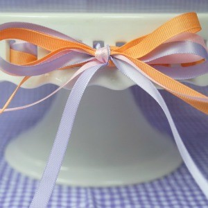 Tutorial: Threading a Ribbon Cake Stand