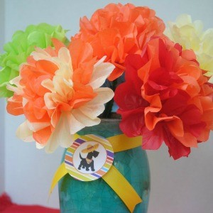 Tutorial: Tissue Paper Fiesta Flowers