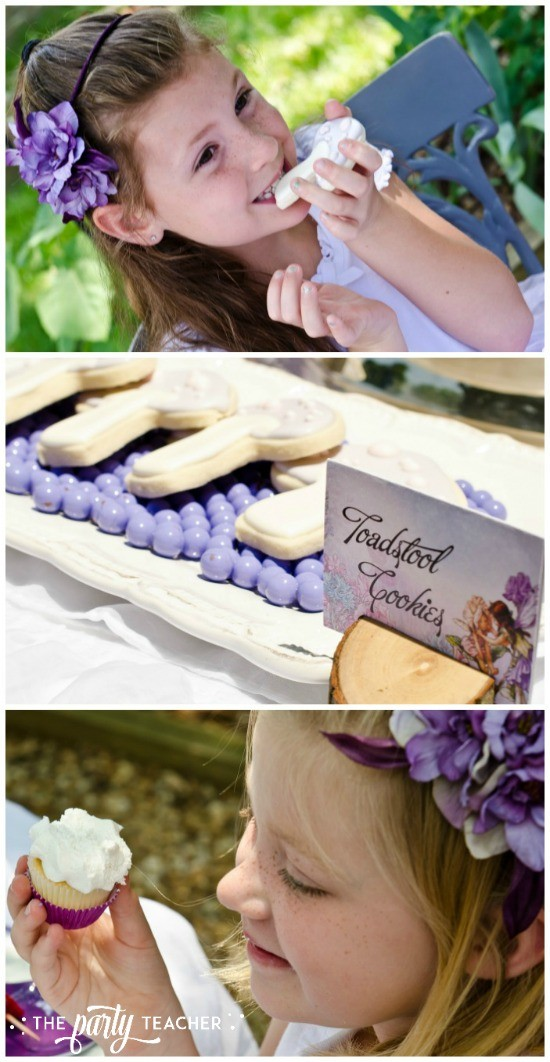 Flower Fairy Party by The Party Teacher- cookies and cupcakes