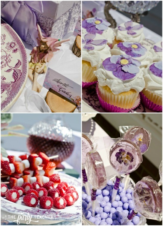 Flower Fairy Party by The Party Teacher - dessert table