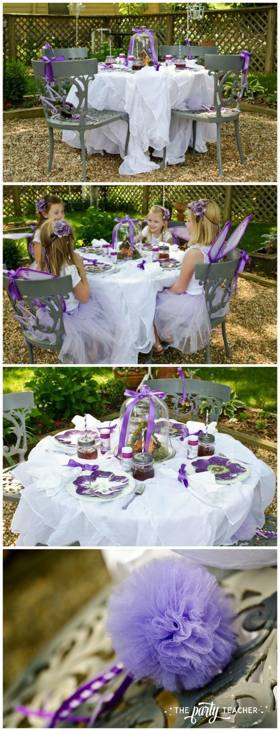 Flower Fairy Party by The Party Teacher - dining table 1