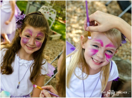 Flower Fairy Party by The Party Teacher - face painting
