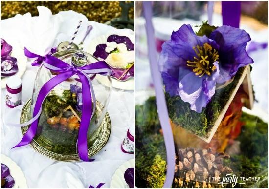 Flower Fairy Party by The Party Teacher - fairy house centerpiece