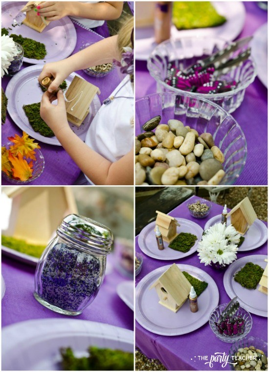 Flower Fairy Party by The Party Teacher - fairy house making