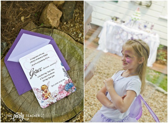 Flower Fairy Party by The Party Teacher - fairy party invitation