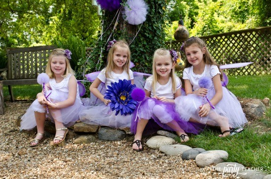 Flower Fairy Party by The Party Teacher - guests in costumes
