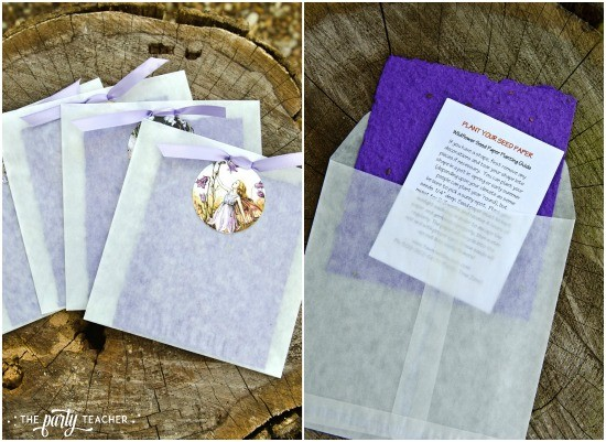 Flower Fairy Party by The Party Teacher - seed paper party favor
