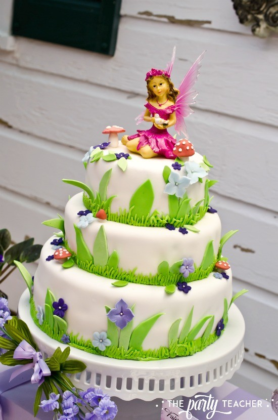 Flower Fairy Party by The Party Teacher - three-layer fairy cake