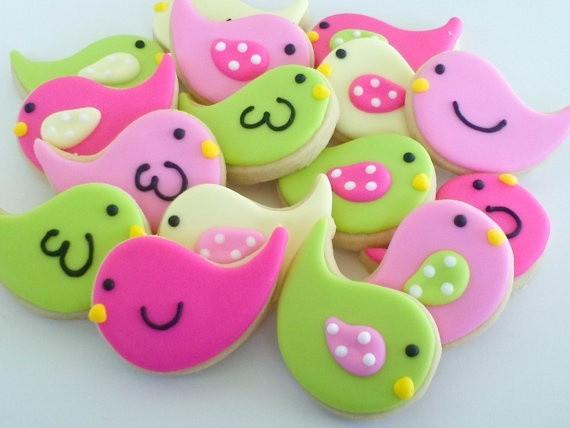 Mini Bird Cookies