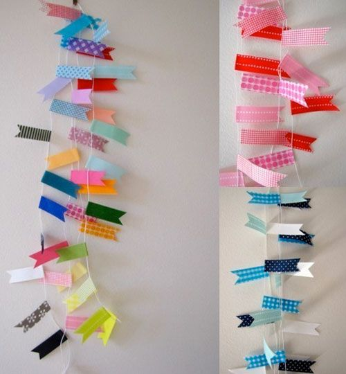 Washi tape bunting by Poppy Talk