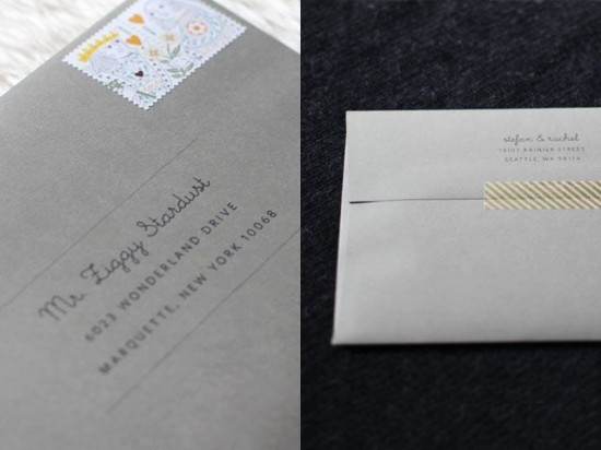 Washi tape envelope by Elephantine