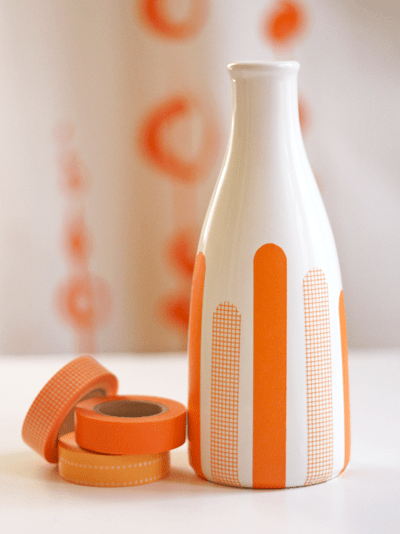 Washi tape vase by How About Orange