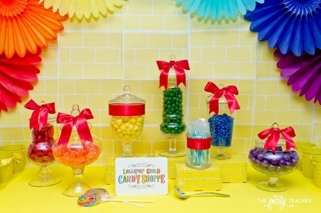 Wizard of Oz party by The Party Teacher - candy buffet