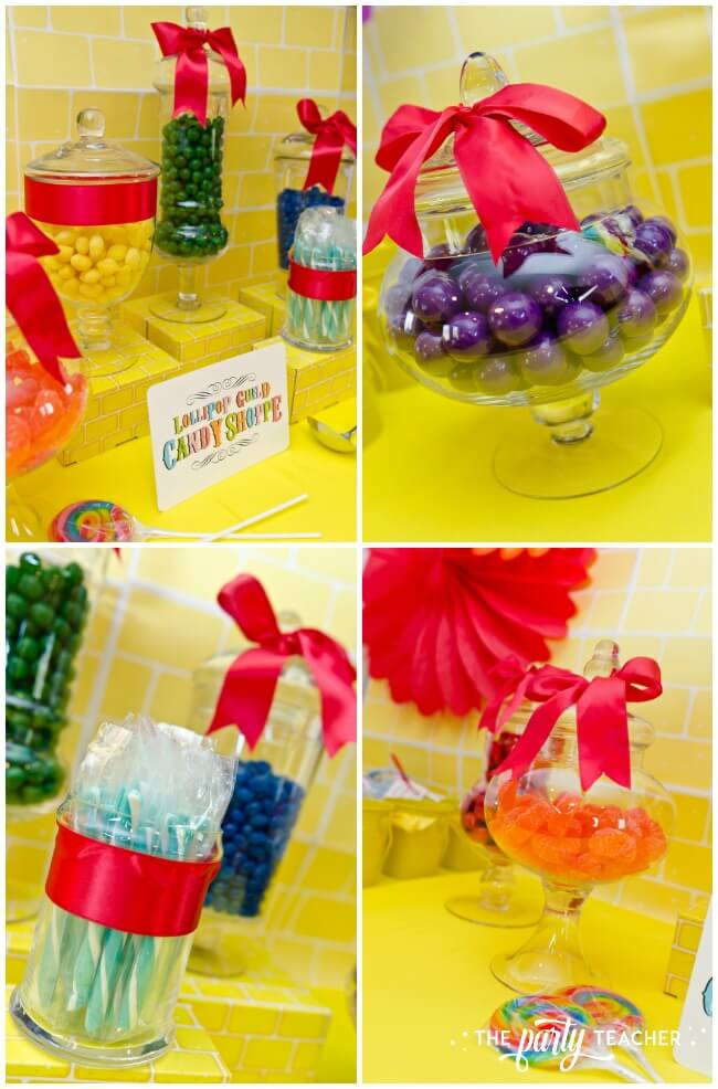 Wizard of Oz party by The Party Teacher - candy