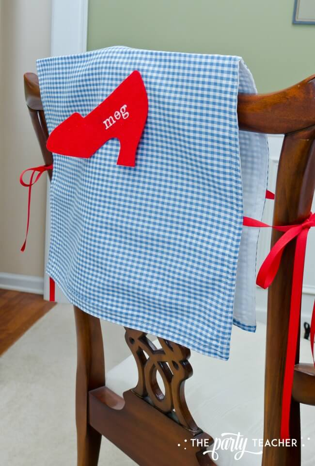 Wizard of Oz party by The Party Teacher - chair covers