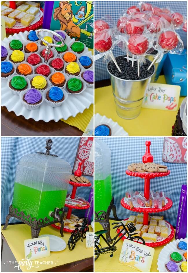 Wizard of Oz party by The Party Teacher - desserts