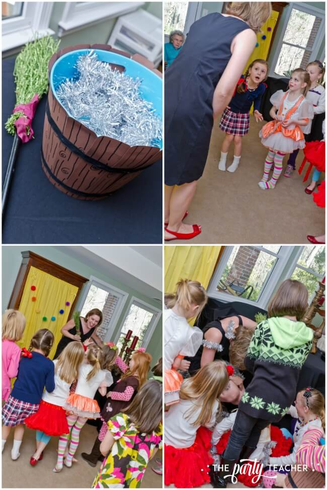 Wizard of Oz party by The Party Teacher - melting the witch