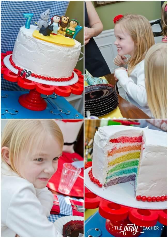 Wizard of Oz party by The Party Teacher - rainbow birthday cake