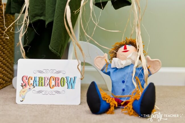 Wizard of Oz party by The Party Teacher - scarecrow stuffing station