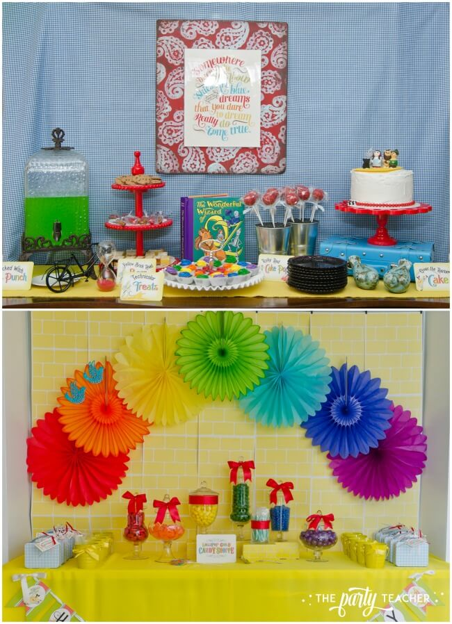 Wizard of Oz party dessert tables by The Party Teacher