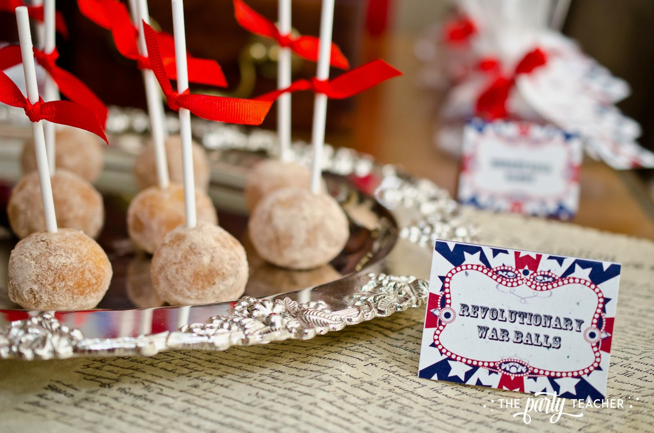 4th of July party by The Party Teacher - cinnamon donut hole