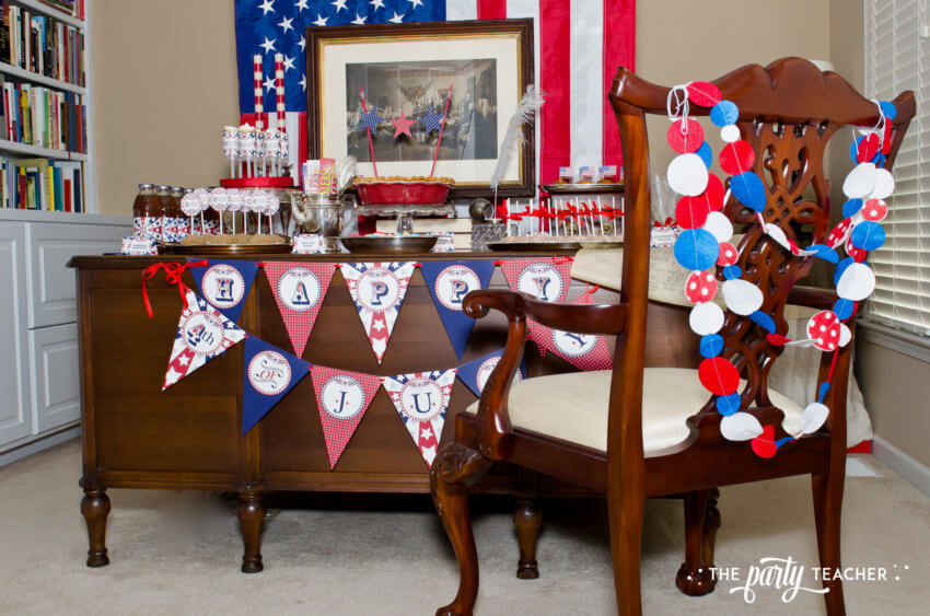 4th of July Party by The Party Teacher - felt chair garland
