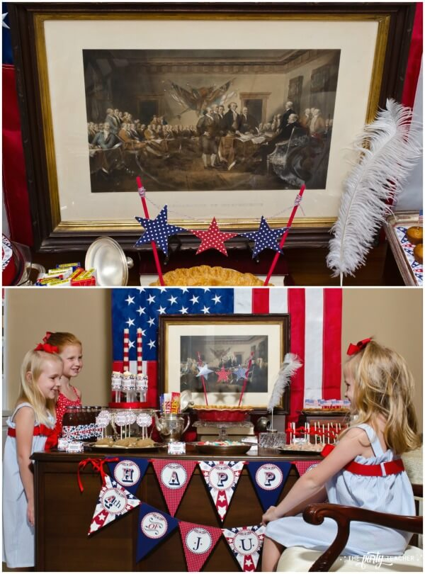 4th of July Party by The Party Teacher - Signing of the Declaration of Independence