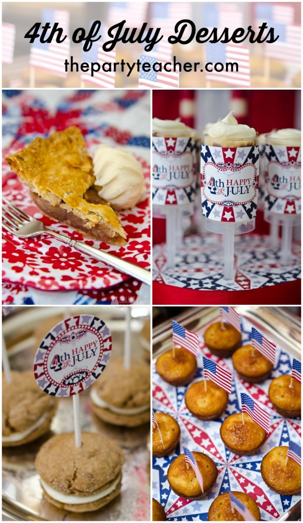 4th of July party dessert recipes by The Party Teacher