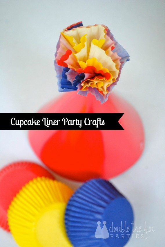 Cupcake Liner Party Crafts by Double the Fun Parties