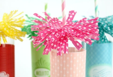 Cupcake line drink topper
