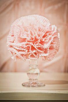 Cupcake liner pom