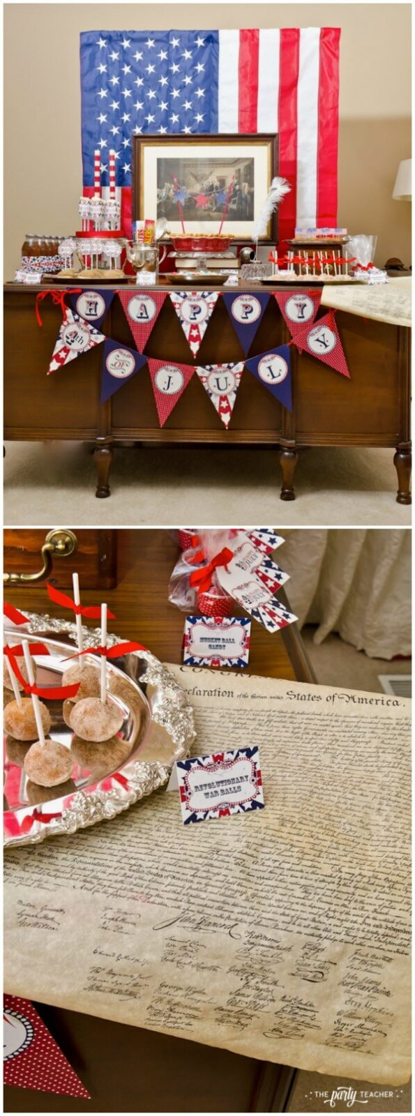 Declaration of Independence inspired 4th of July party by The Party Teacher
