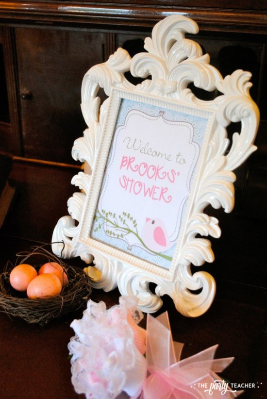 Bird Baby Shower by The Party Teacher - welcome sign