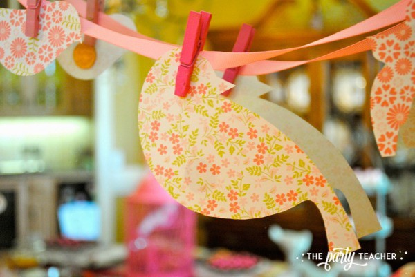 Bird Baby Shower by The Party Teacher - bird garland