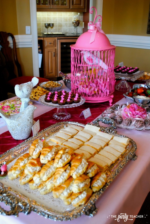 Bird Baby Shower by The Party Teacher - buffet table