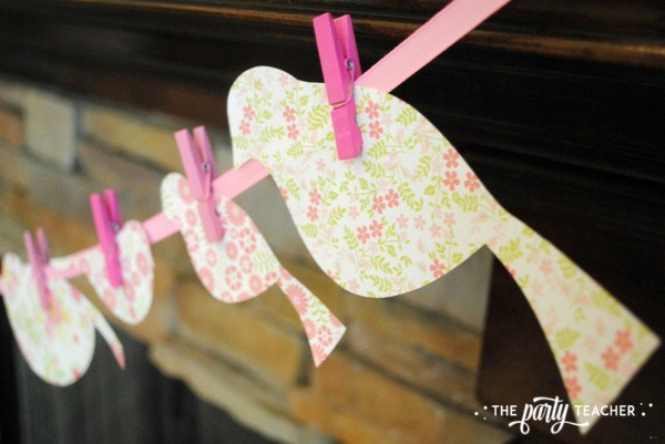 Bird Baby Shower by The Party Teacher - garland