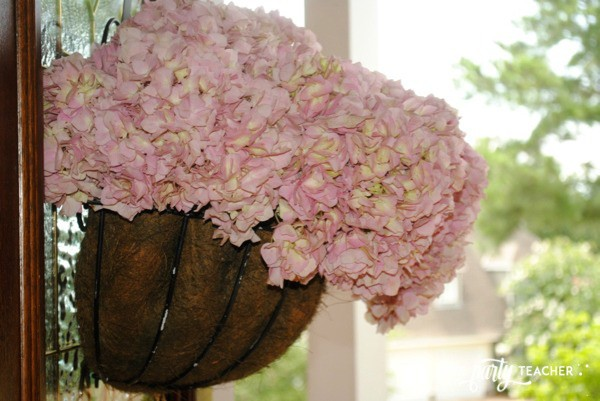 Bird Baby Shower by The Party Teacher - front door hydrangeas