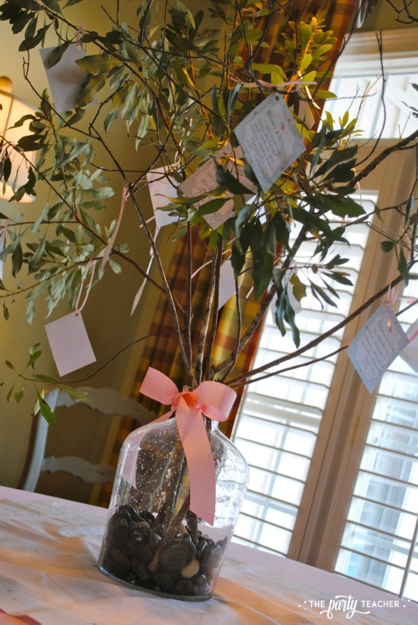 Bird Baby Shower by The Party Teacher - wishing tree