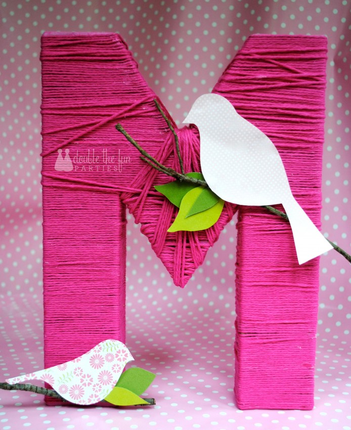 Tutorial Yarn Wrapped Letter The Party Teacher