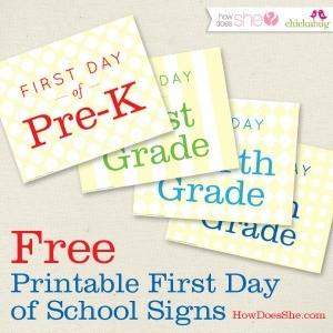 Freebie Friday: Free Back to School Printables