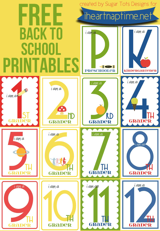 FF Sugar Tots Designs First Day of School Signs